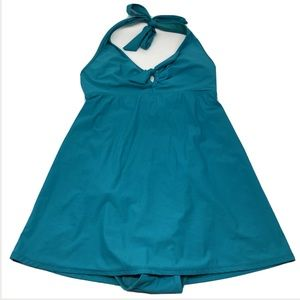 Spanx Love Your Assets Teal Power Suit Swim Dress